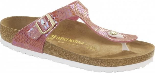 Birkenstock Gizeh Zehensteg Sandale shiny snake rose BF Gr. 35 - 43 - 1011603
