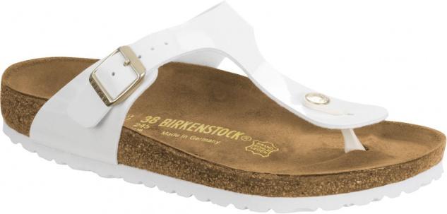 Birkenstock Zehensteg Sandale Gizeh weiß BF - Gr. 35 - 43 - BF 1005299 c37740