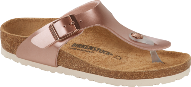 Birkenstock Pantolette Gizeh electric metallic copper 1012526