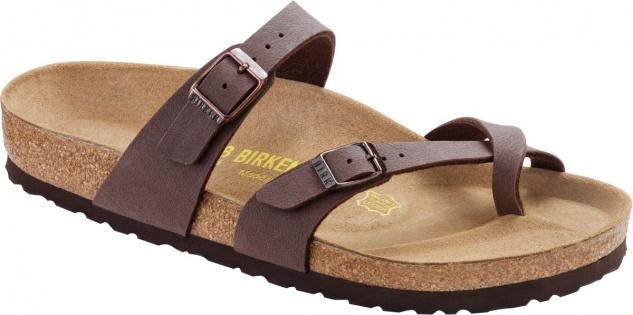BIRKENSTOCK Zehensteg Sandale Mayari mocca Gr. 35 - 46 071061 + 071063