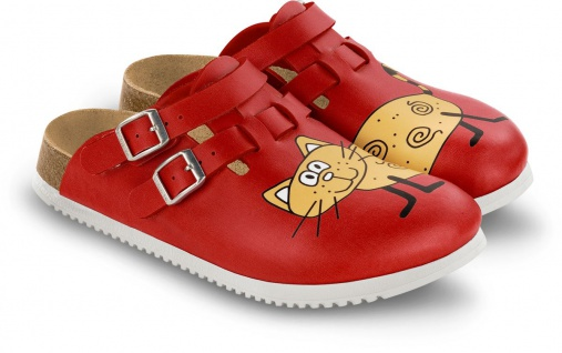 BIRKENSTOCK Professional Clog Kay cat red SUPERLAUF 582516