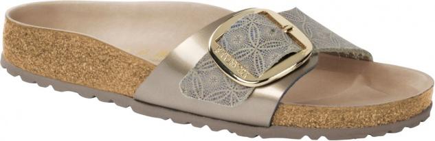 Birkenstock Pantolette Madrid Big Buckle ceramic pattern blue 1009032 / 1009033
