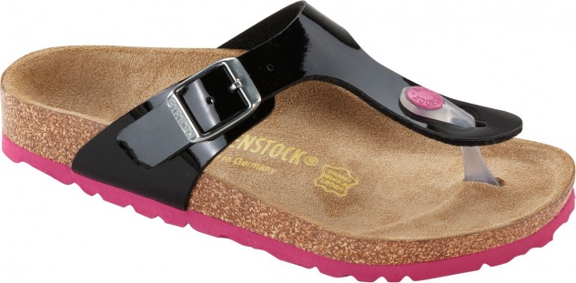 BIRKENSTOCK Zehensteg Sandale Gr. Gizeh schwarz Lack BF Gr. Sandale 35 - 43 845861 + 845863 85a3b4