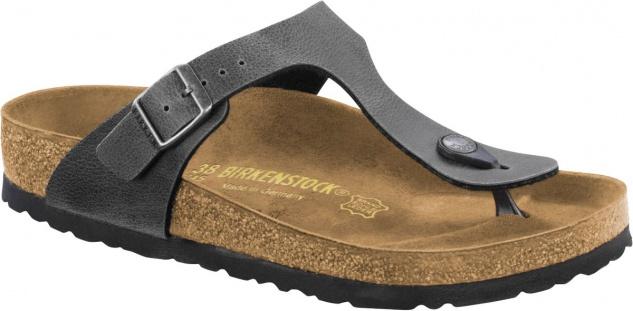 Birkenstock Zehensteg Sandale Gizeh BF pull up anthracite - Gr. 35 - 43 - 1005029