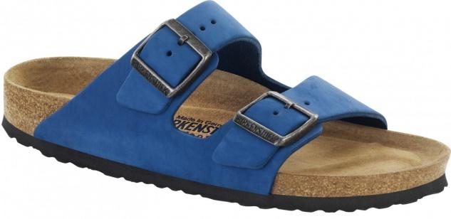 Birkenstock Pantolette Arizona Nubukleder blue Gr. 35 - 43 - 057801 - Vorschau