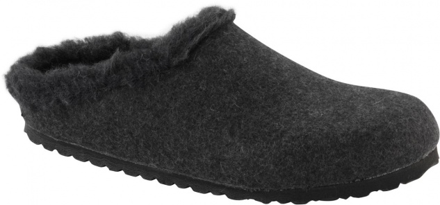 Birkenstock Clog Kaprun WZ anthracite happy lamb black Gr. 35 - 46 1002082 / 1002083
