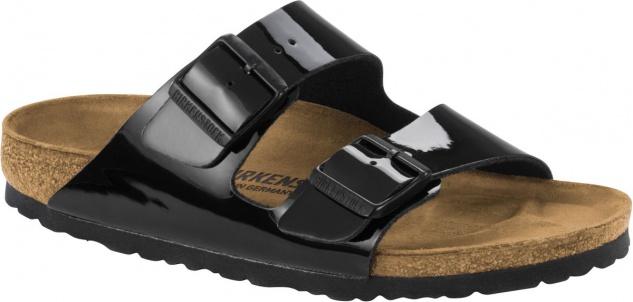 Birkenstock Pantolette Arizona schwarz lack BF Gr. 35 - 43 1005292
