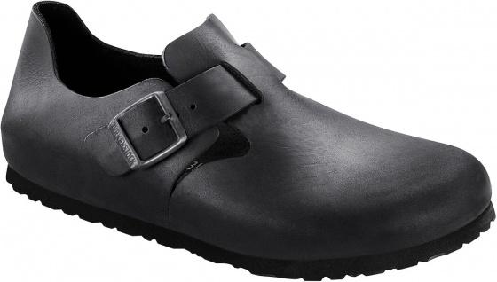 BIRKENSTOCK Shoes Halbschuh London schwarz Leder 166541 + 166543