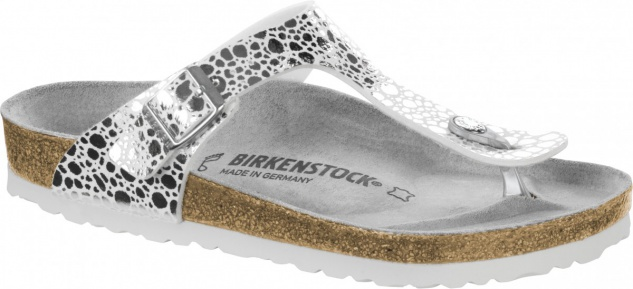 Birkenstock Zehensteg Sandale metallic stones silver Gr. 35 - 43 - 1008864