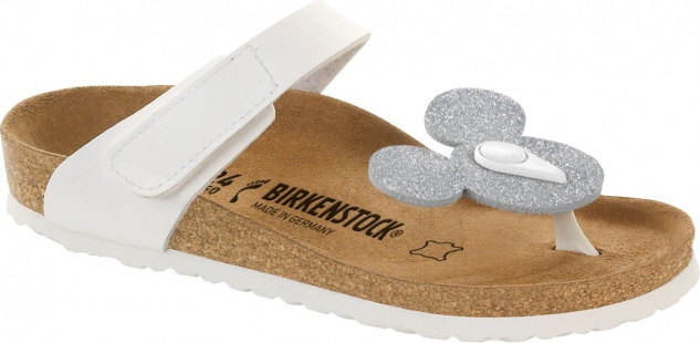 Birkenstock Sandale Zehentrenner Tofino Mickey magic galaxy silver 103763