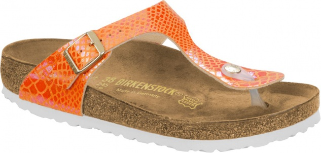 Birkenstock Gizeh Zehensteg Sandale shiny snake orange BF Gr. 35 - 43 - 1005285 / 1005286