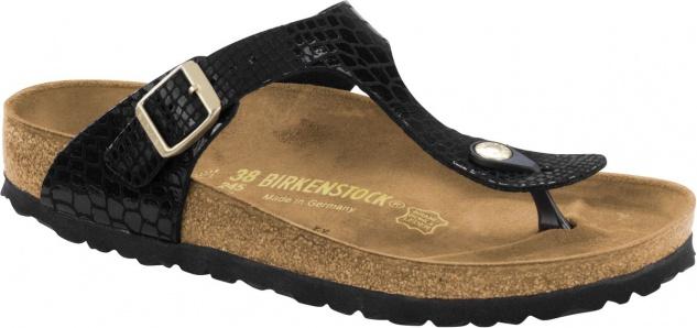 Birkenstock Zehensteg Sandale Gizeh shiny snake black BF Gr. 35 - 43 - 1004275