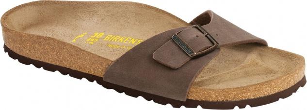 BIRKENSTOCK Pantolette Madrid mocca Birko-Flor Gr. 35 - 46 040093 + 040091