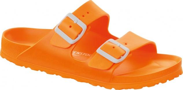Birkenstock Pantolette Badeschuh Arizona neon orange EVA Gr. 36 - 41 Neu 129553