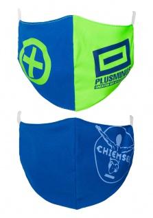 CHIEMSEE Nasen - & Mundschutz- Maske 2er Pack für Herren in blau & grün (1 x 2 Stück)