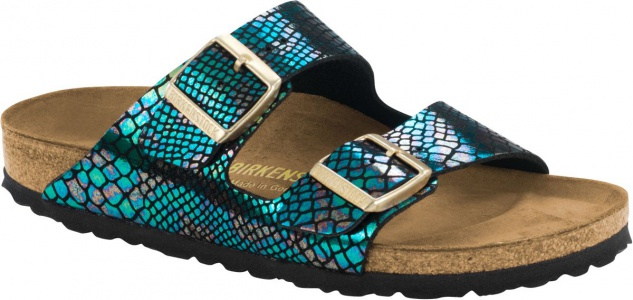 BIRKENSTOCK Arizona shiny snake black multicolor 1003463