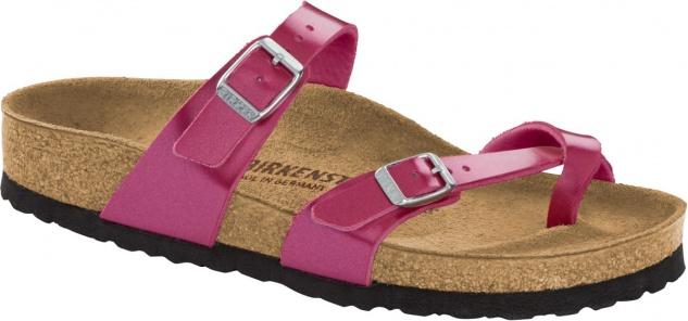 Birkenstock Mayari Zehensteg Sandale BF metallic cuts magenta Gr. 35 - 43 1012973