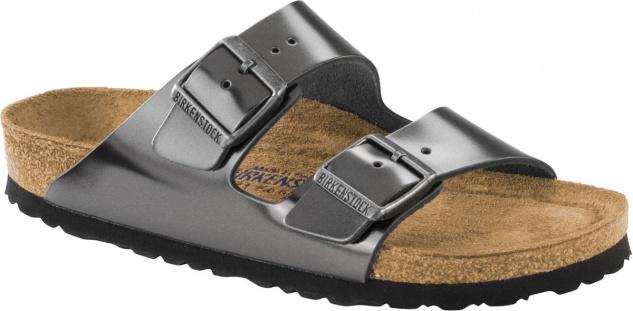 Birkenstock Pantolette Arizona NL WB metallic anthacite Gr. 35 - 43 1000295 Beliebte Schuhe