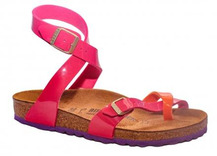 Birkenstock Zehensteg Yara BF Lack tropical orange pink 1004054