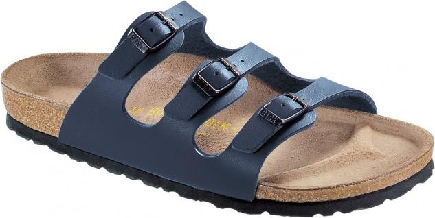 BIRKENSTOCK Pantolette Sandale Florida blau Birko-Flor Gr. 35-43 054753 + 054751