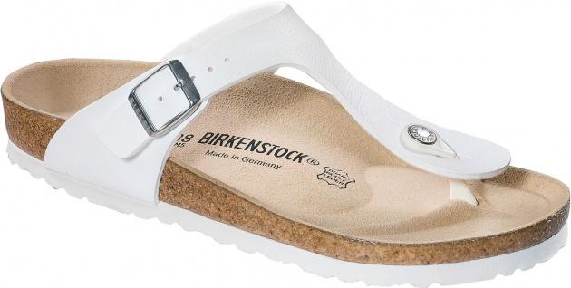BIRKENSTOCK Zehensteg Sandale Gizeh - weiß Birko-Flor Gr. 35 - Gizeh 46 043731 + 043733 e57a00