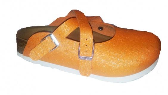 Birkis Clog Dorian Gr. 35 - 42 glitter crinkle orange NEU 537433