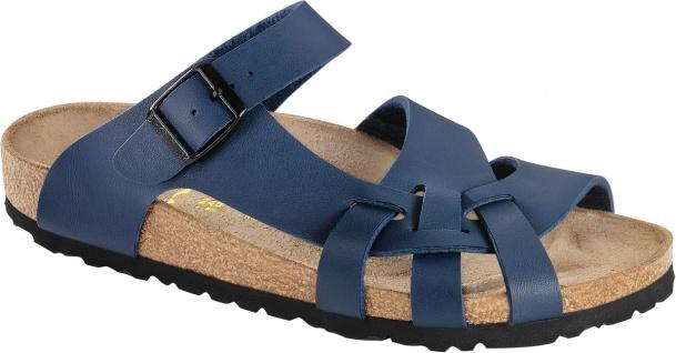 BIRKENSTOCK Pantolette Sandale Pisa blau Birko-Flor Gr. 35 - 43 075803 + 075801