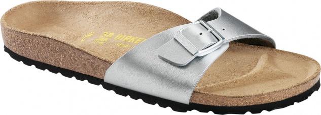 BIRKENSTOCK Gymnastik Sandale Pantolette Madrid silber BF Gr. 35-43 040411 + 040413