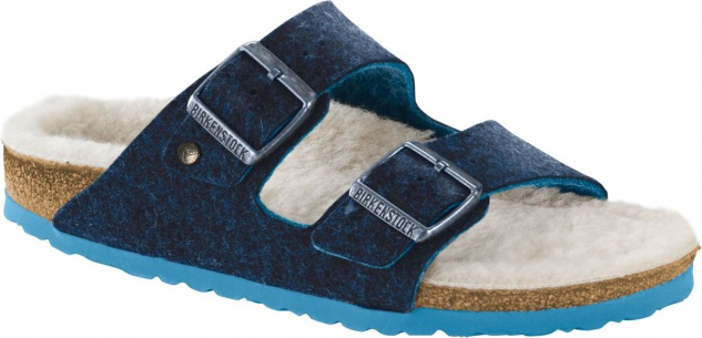 BIRKENSTOCK Arizona doubleface blue Wolle 1012430