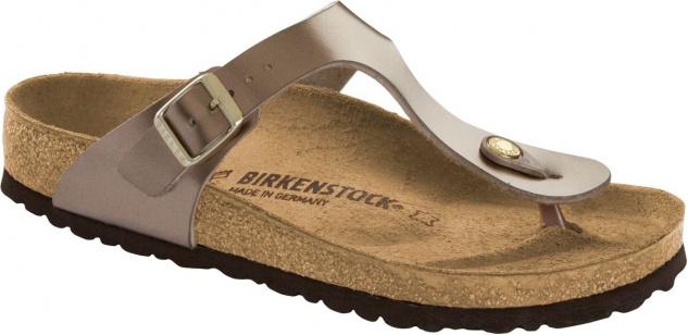Birkenstock Zehensteg Gizeh BF electric metallic taupe 1012983