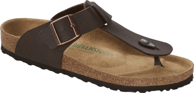 Birkenstock Zehensteg Medina saddle matt brown 1015534