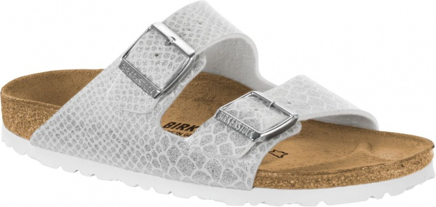 Birkenstock Pantolette Arizona BF magic snake white Gr. 35 - 43 1009127