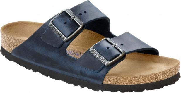 Birkenstock Pantolette Arizona FL WB Insignia Blue Gr. 35 - 46 - 752761 / 752763