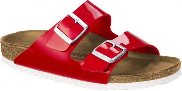 Birkenstock Pantolette Arizona tango red patent BF Gr. 35 - 43 1005283