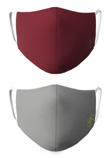 CHIEMSEE Nasen & Mundschutz Maske 2er Pack grau/dunkelrot