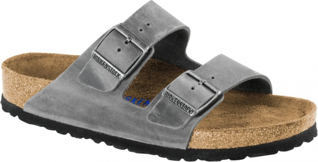 Birkenstock Pantolette Arizona FL WB Iron Gr. 35 - 46 - 552801