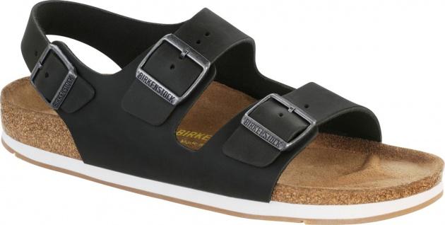 Birkenstock Sandale Milano FL schwarz Fettleder Gr. 35 - 46 635013