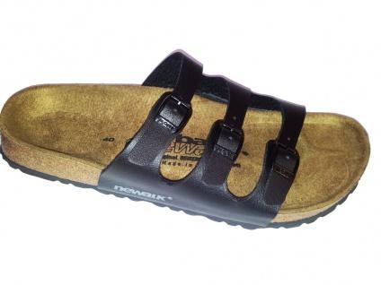 Newalk schwarz Pantolette Wupper ähnlich Florida schwarz Newalk Original Birkenstock Fußbett - 1650S db2523