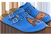 BIRKIS Clog Kay dog blue Fersenriemen 26 - 42 936533