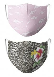CHIEMSEE Nasen - & Mundschutz- Maske 2er Pack pink / leo - lady