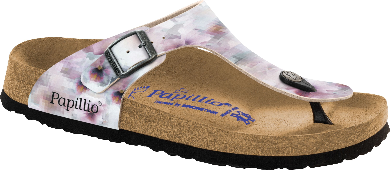 Birkenstock Gizeh Zehensteg Sandale shiny check rose BF Gr. 35 43 1005346