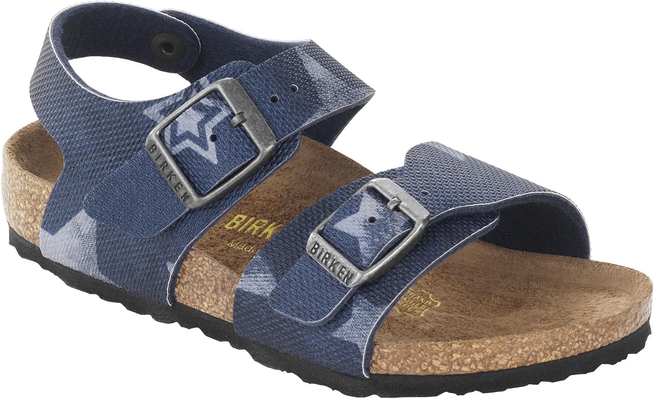 5c31f9fdd293 Birkenstock Sandale New York kids BS vintage stars blue Gr. 24 - 34 089383K