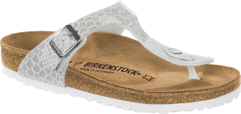 Birkenstock Gizeh Zehensteg Sandale magic snake white Gr. 35 43 1009115
