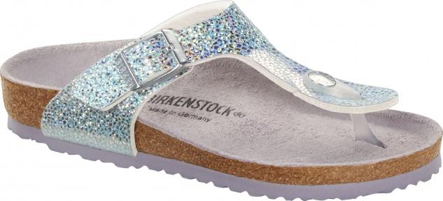 Birkenstock Gizeh disco ball silver/lavender