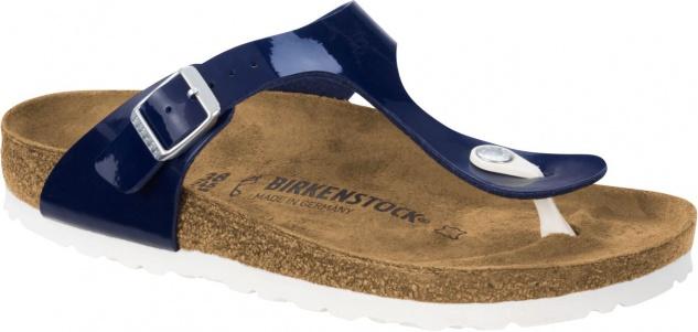 Birkenstock Zehensteg Sandale Gizeh BF Lack dress blue - Gr. 35 - 43 - 1005301