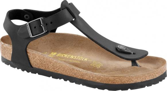 Birklenstock Zehensteg Sandale Kairo Leder schwarz Gr. 35 - 43 - 147111 / 147113 Beliebte Schuhe