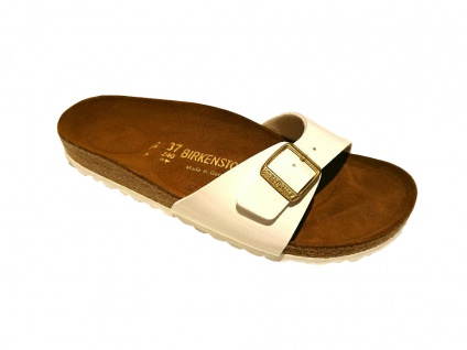 Birkenstock Pantolette Sandale - Madrid BF Lack weiß Gr. 35 - Sandale 43 339973 d89aea