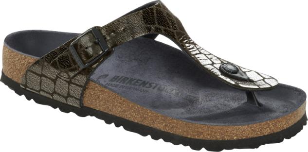Birkenstock Zehensteg Sandale Gizeh gator glam black 1016420