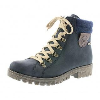 Rieker Boots navy Kunstleder 785F8-14 Gr. 36 - 43