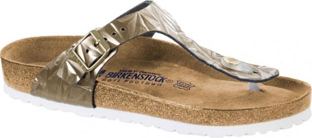 Birkenstock Zehensteg Sandale Gizeh spectral platin Gr. 35 - 43 - 1008467